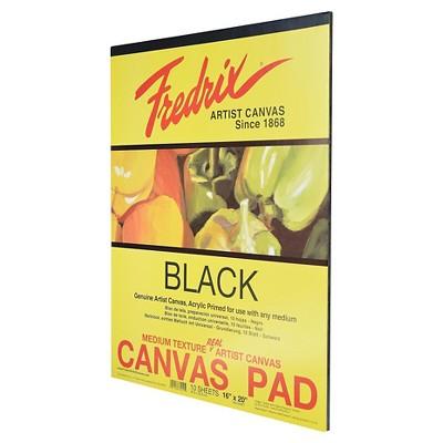 Fredrix® Black Canvas Pads