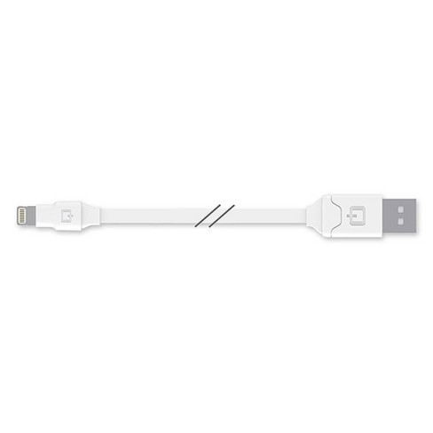 Qmadix - Apple Lightning Cable 6ft - White - image 1 of 3