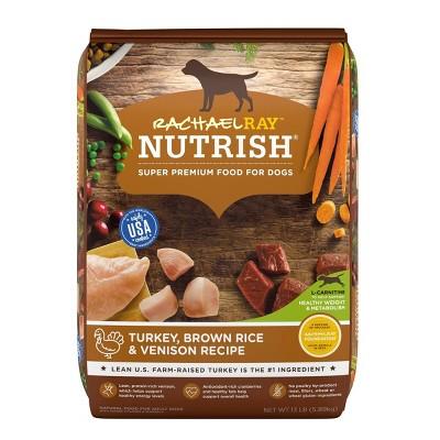 Rachael Ray Nutrish Turkey, Brown Rice & Venison Recipe Adult Super Premium Dry Dog Food - 13lbs
