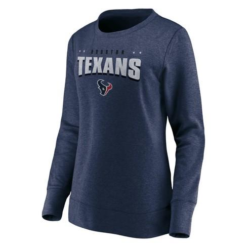 classic fit 3b416 1ae02 NFL Houston Texans Women's Distressed Throwback Fleece T-Shirt