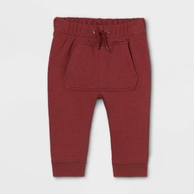 Baby Knit Jogger Pants - Cat & Jack™ Burgundy 0-3M