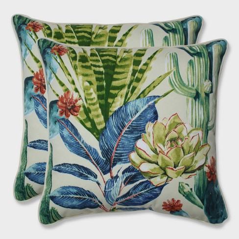 "16.5"" 2pk Hatteras Garden Throw Pillows Black - Pillow Perfect - image 1 of 1"