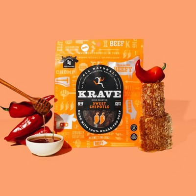 Krave Sweet Chipotle Beef Jerky - 2.7oz