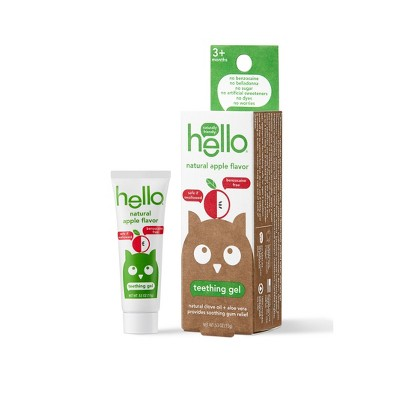 hello Natural Apple Flavor Teething Gel - 0.53oz