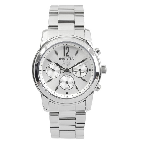 Women's Invicta 0461 Angel Stainless Steel Link Bracelet Watch - Silver - image 1 of 3