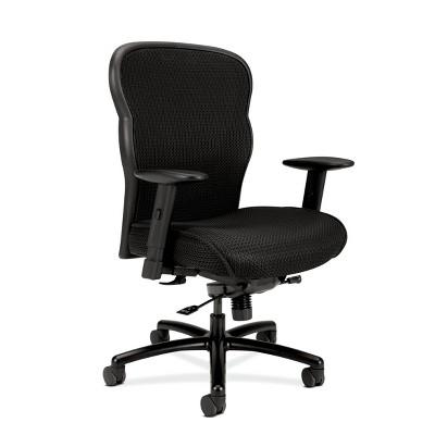 Wave Big and Tall Executive Chair Adjustable Arms Black - HON