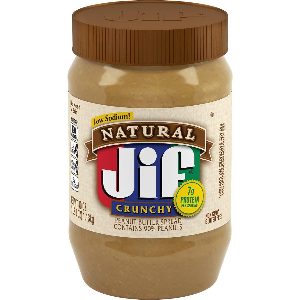 Jif Natural Crunchy Peanut Butter - 40oz