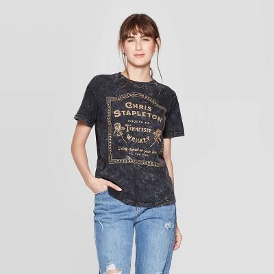 Women's Chris Stapleton Short Sleeve Graphic T Shirt (Juniors')   Black by Shirt (Juniors')