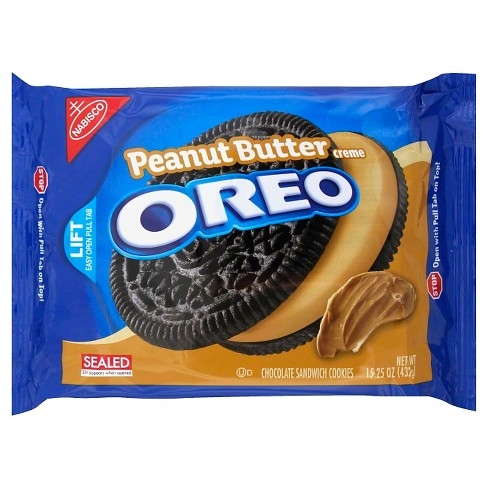 Oreo® Peanut Butter Crème Chocolate Sandwich Cookies - 15.25oz - image 1 of 1
