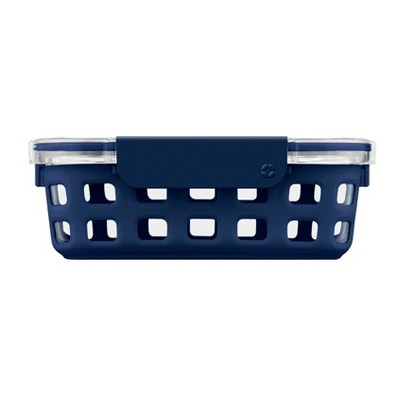 Ello 3.4 Cup Glass Food Container -  Navy