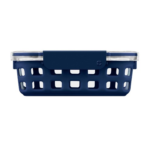 Ello 3.4 Cup Glass Food Container -  Navy - image 1 of 3