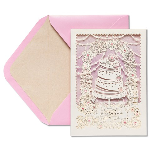 Papyrus Wedding Cake Wedding Congratulations Card - image 1 of 3