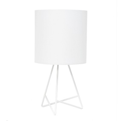 Down To The Wire Table Lamp with Fabric Shade White - Simple Designs