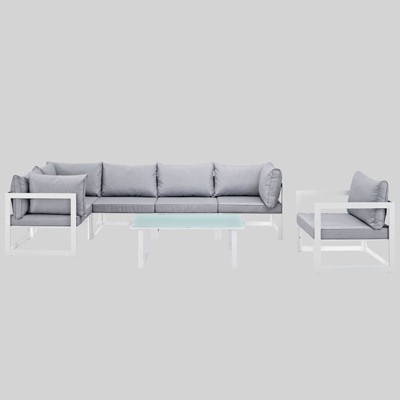 Fortuna 7pc Outdoor Patio Sectional Sofa Set - Modway