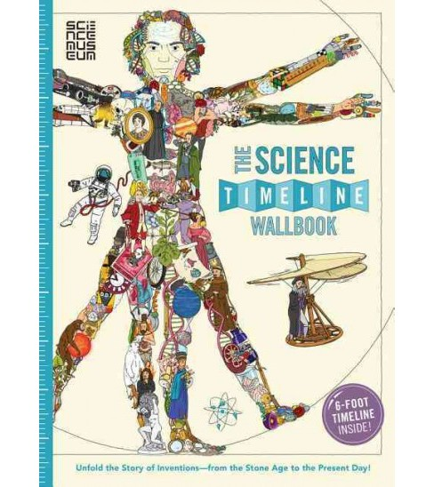Science Timeline Wallbook : Unfold the Story of Inventions, from the Stone Age to the Present Day!: - image 1 of 1