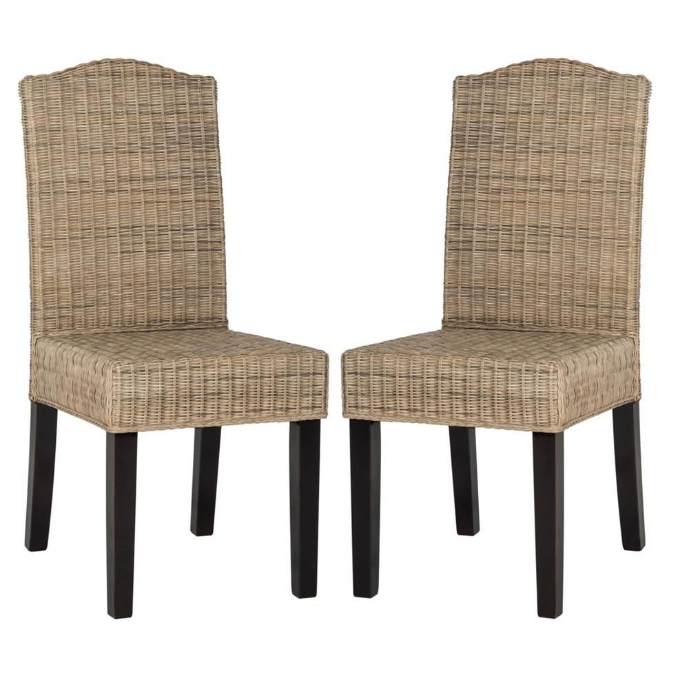 Prime Odette Wicker Dining Chair Natural Set Of 2 Safavieh Creativecarmelina Interior Chair Design Creativecarmelinacom