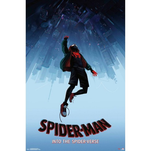 "34""x23"" Spider-Man: Spider - Verse - Falling Unframed Wall Poster Print - Trends International - image 1 of 2"