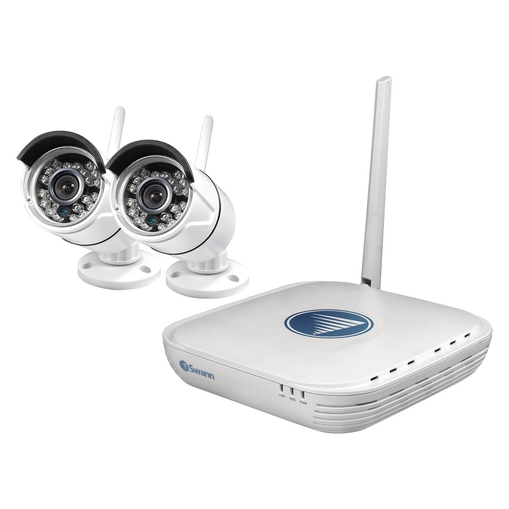Swaan Wi-Fi Security Kit with 2 Cameras - White (SWNVK-460KH2)