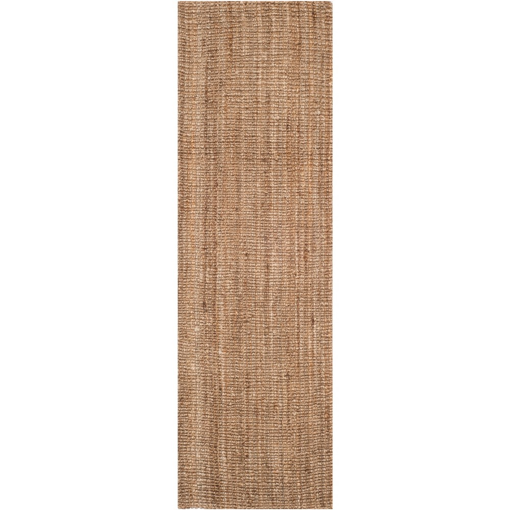 2'6X20' Solid Woven Runner Natural/Gray - Safavieh