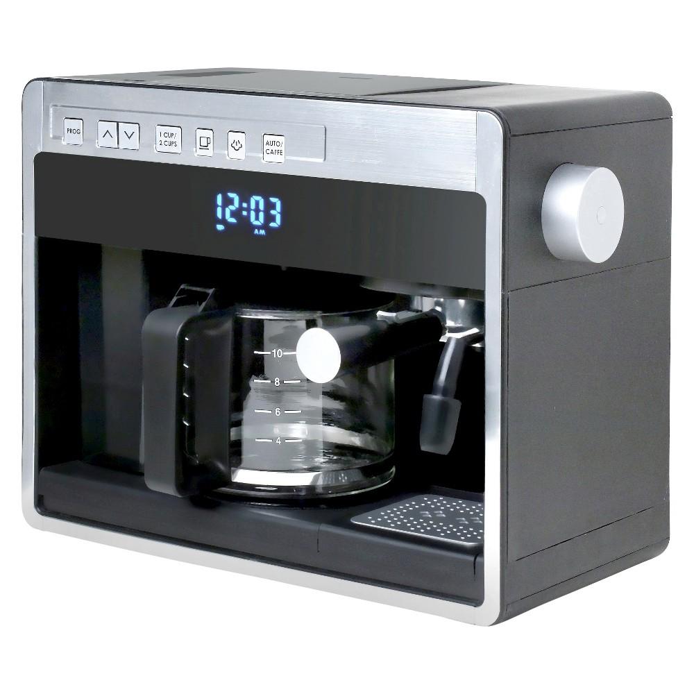 Espressione New 3in1 Combination Coffee Beverage System - Black with Silver, Black/Silver