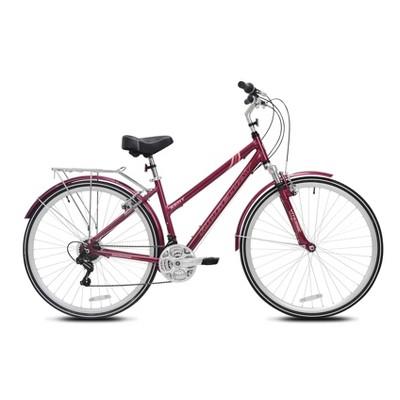 """Kent Women's Ridgeway 700c/28"""" Hybrid Bike - Burgundy"""