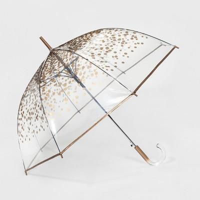 ShedRain Clear Bubble Umbrella - Gold Dot