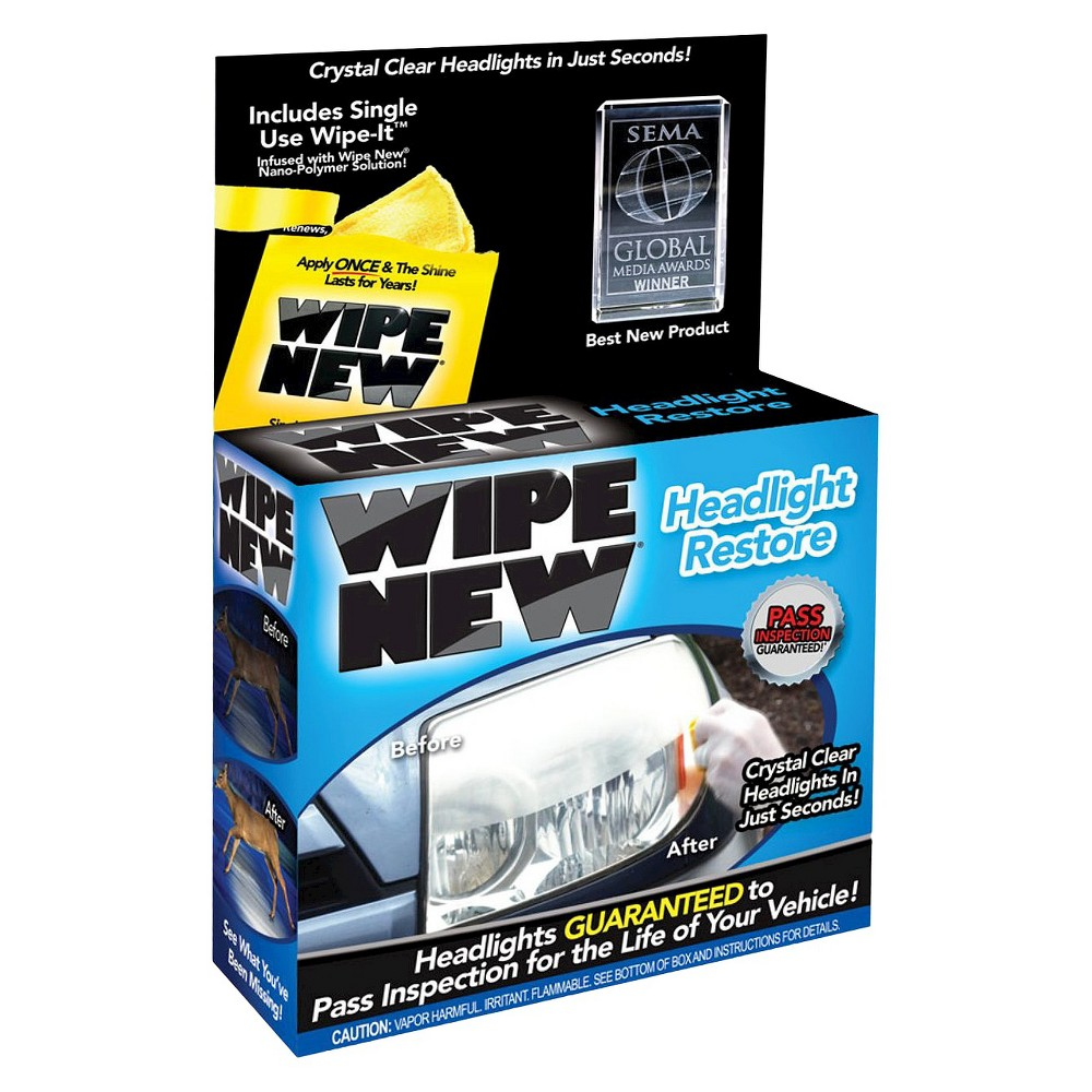 As Seen On Tv Wipe New Headlight Restore Automotive Glass Cleaner