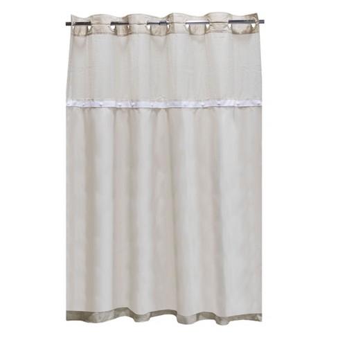 Solid PEVA Shower Liner White