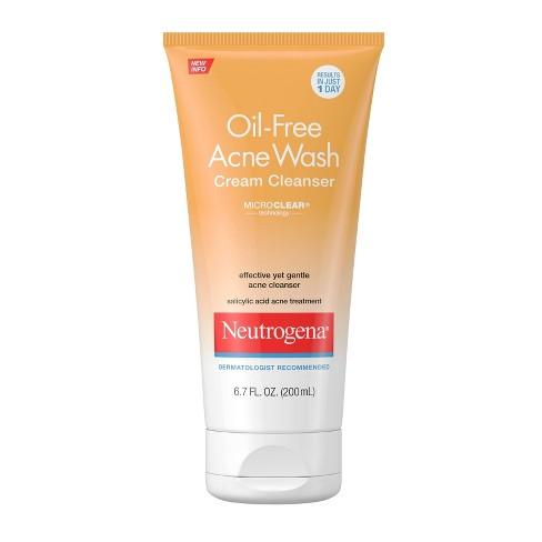 Neutrogena Oil-Free Acne Face Wash Cream Cleanser - 6.7 fl oz - image 1 of 4
