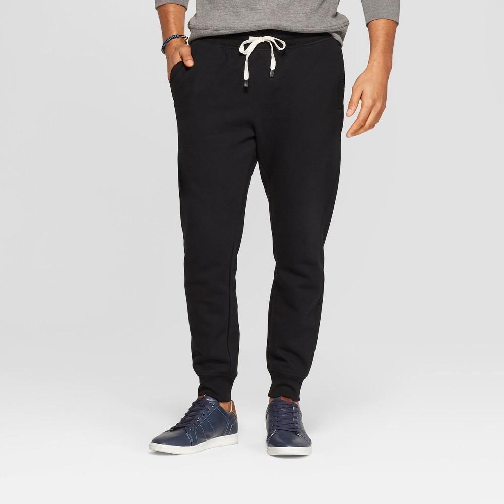 Men's Regular Fit Jogger Pants - Goodfellow & Co Black 2XL