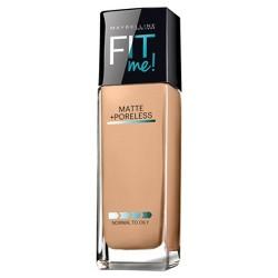 Maybelline FIT ME! Matte + Poreless Foundation - Light Shades - 1.0 fl oz