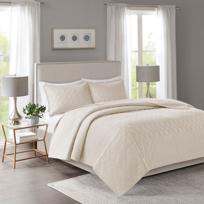 King/California King Hollie Coverlet Set Ivory