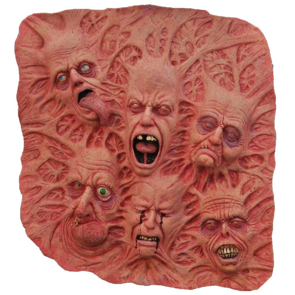 Image of 2' x 2' Slate Of Souls Latex Prop Halloween Wall Sculpture