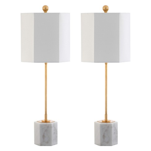 Magdalene Marble Table Lamp White Gold 10 X10 Set Of 2 Includes