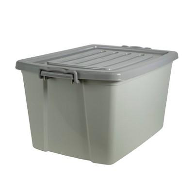 Home Logic 55qt Latching Storage Bin Gray