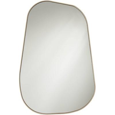 "Possini Euro Design Reuleaux Champagne Gold 26"" x 40"" Rectangular Wall Mirror"