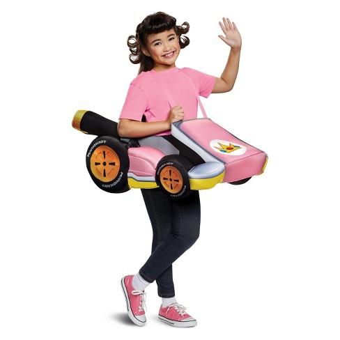 Girls Super Mario Princess Peach Kart Halloween Costume Target
