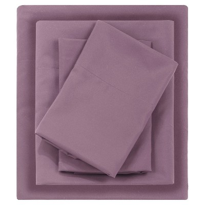 Queen Micro Splendor Ultra Soft Wrinkle Free Microfiber Sheet Set Purple