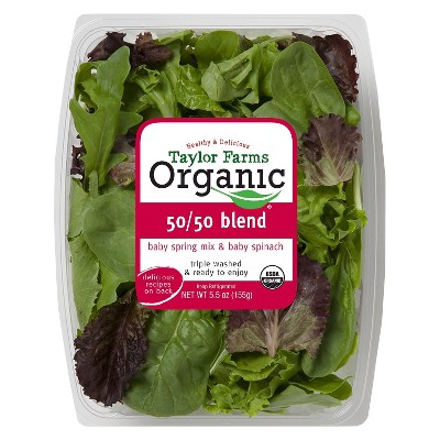 Taylor Farms Organic Baby Spring Mix & Baby Spinach Lettuces - 5.5oz Package