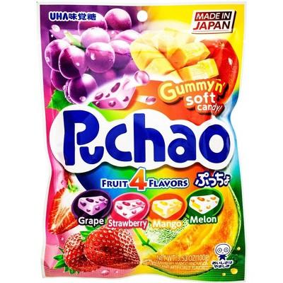 Puchao Four Flavor Fruit Gummy & Soft Candy - 3.53oz