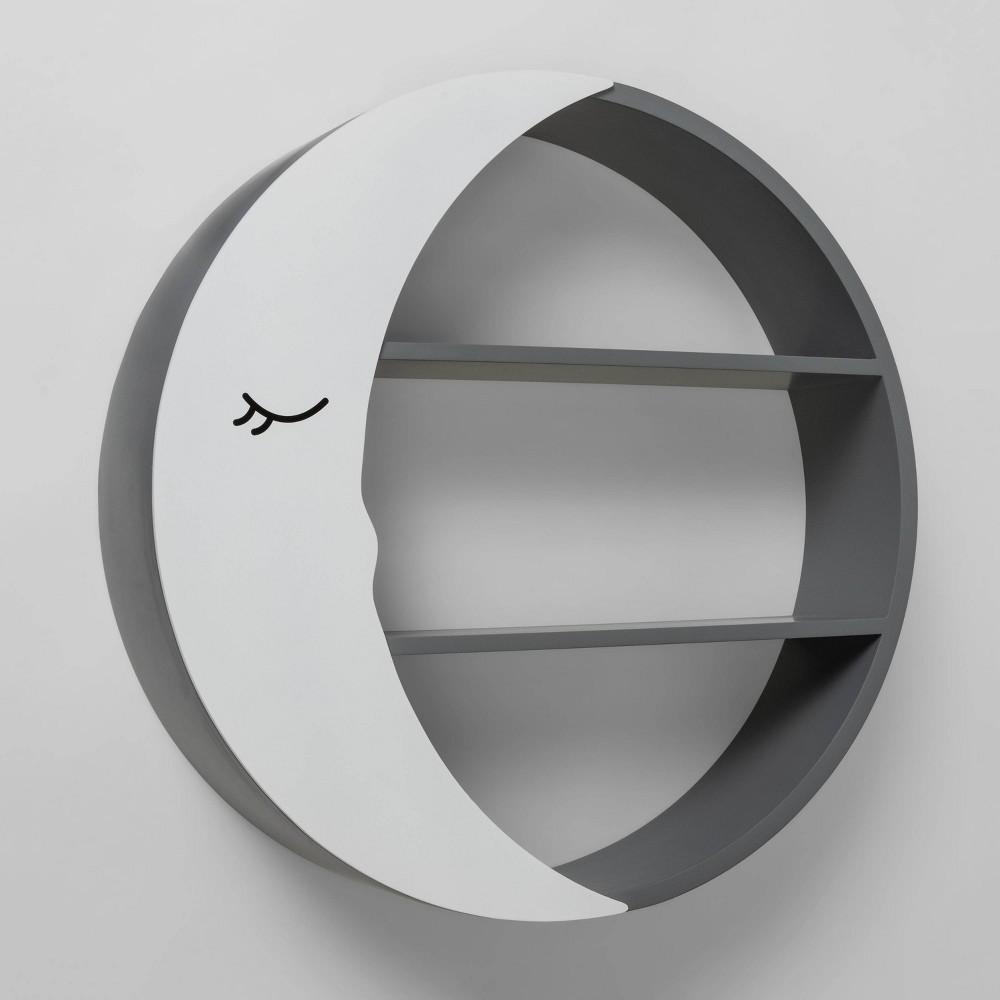 Image of Decorative Wall Shelf - Cloud Island Moon Shelf, Gray