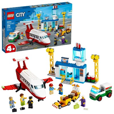 LEGO City Central Airport Playset LEGO Building Toys for Kids 60261