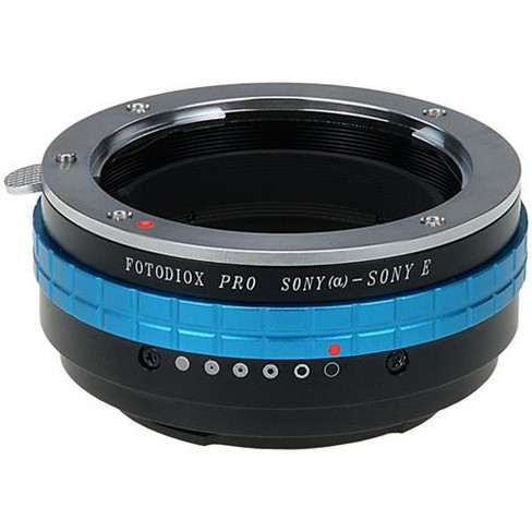 Fotodiox Pro Lens Mount Adapter for Sony Alpha A-Mount (and Minolta AF) DSLR Lens to Sony Alpha E-Mount Mirrorless Camera Body - image 1 of 3