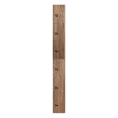 Kate & Laurel 72 x8  Growth Wall Ruler Growth Chart Wood