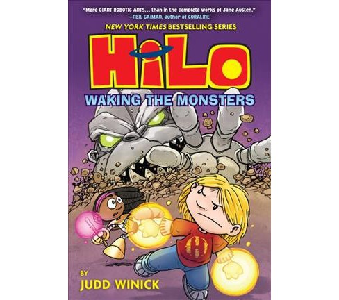 Hilo 4 : Waking the Monsters -  (Hilo) by Judd Winick (Hardcover) - image 1 of 1