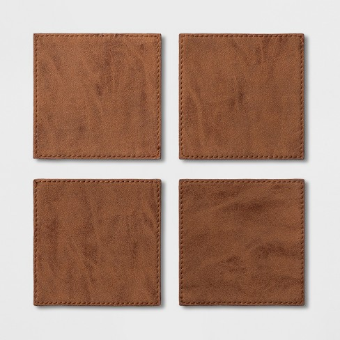 Faux Leather Coasters Brown - Project 62™ - image 1 of 1