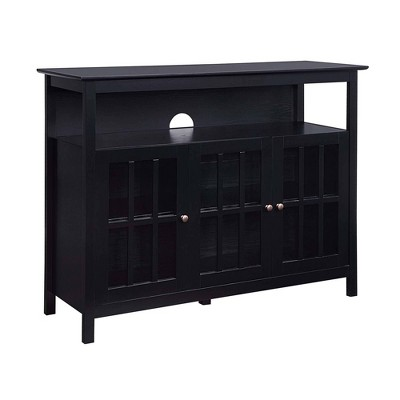 """Big Sur Deluxe Storage Cabinets and Shelf TV Stand for TVs up to 48"""" - Breighton Home"""