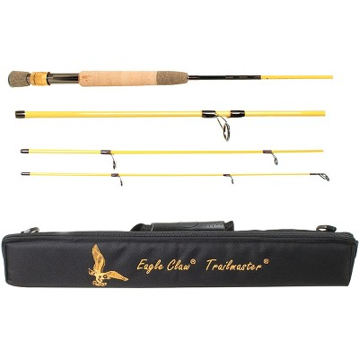 "Eagle Claw 8'6"" Trailmaster Travel Fly Fishing Rod"