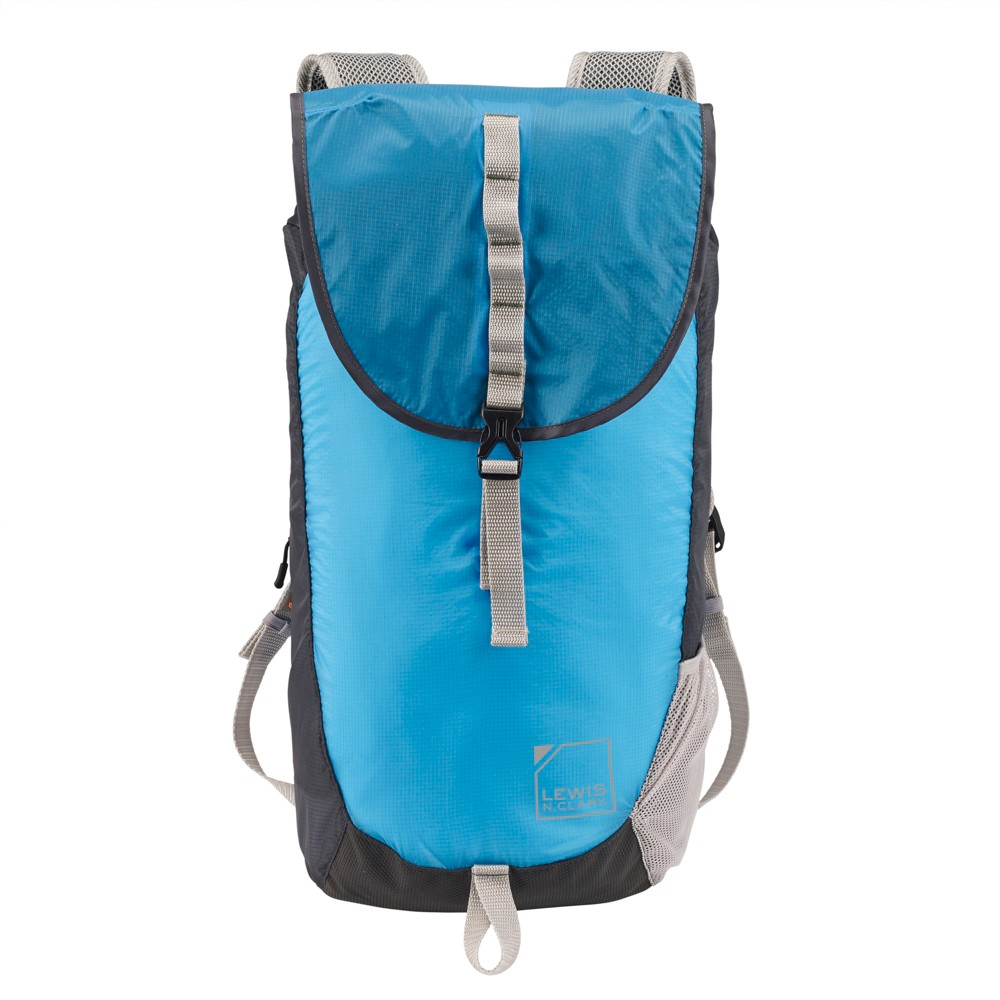 Image of Lewis N. Clark ElectroLight Day Backpack RFID Protected - Bright Blue/Charcoal Gray, Size: Small, Lt. Blue