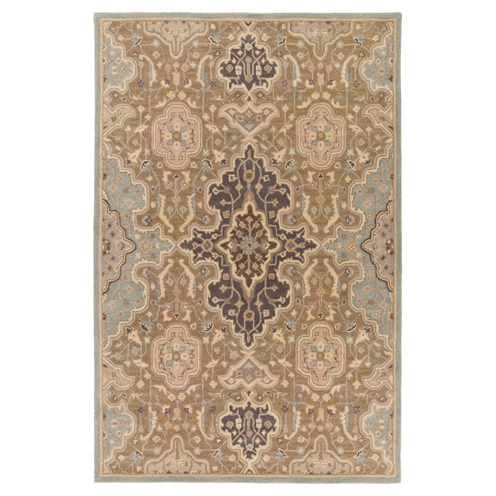 Taupe (Brown) Abstract Tufted Area Rug - (5'x7'6) - Surya